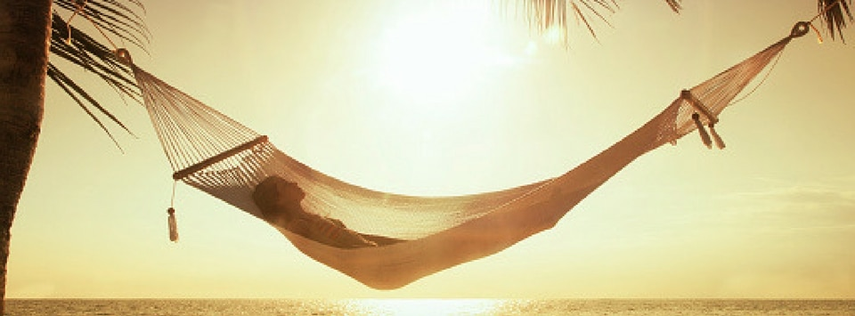 Hammock on the beach.