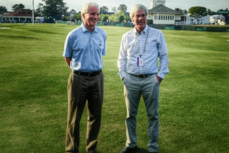 Bill Coore and Ben Crenshaw at Pinehurst in 2014